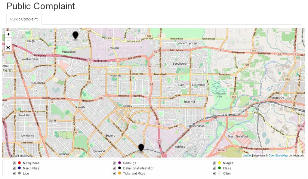 Public Complaint map - 2 DI cases